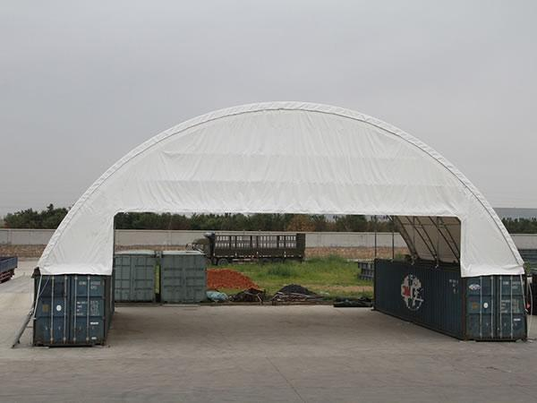 Temporary cargo container shelters
